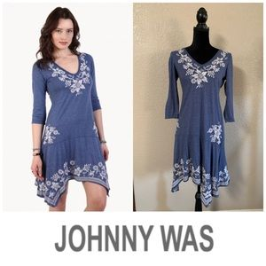Johnny Was Tess embroidered handkerchief dress